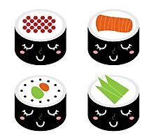 Ladies sushi : black n white Photographic Print