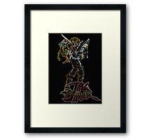 Jak and Daxter Glow Design Framed Print