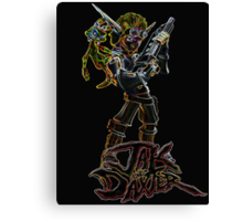 Jak and Daxter Glow Design Canvas Print