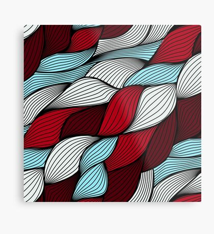 Red blue knit Metal Print