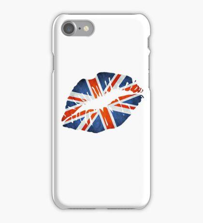United Kingdom Flag Lips iPhone Case/Skin