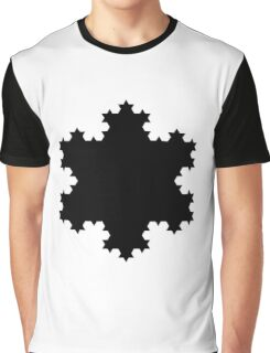 Black snowflake Graphic T-Shirt