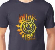 BLink 182 yellow Fire Unisex T-Shirt
