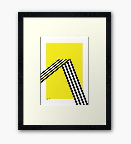 Geometric construction 01B Framed Print