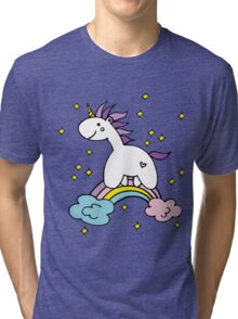 Unicorn on the rainbow Tri-blend T-Shirt