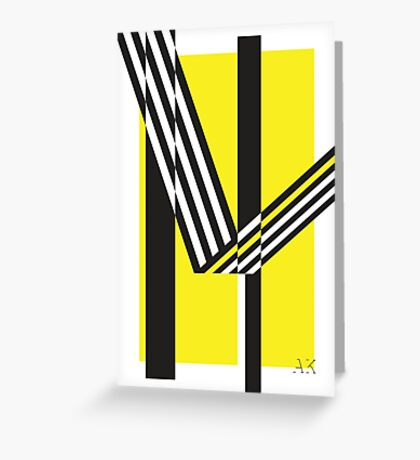 Geometric Composition 02 Greeting Card