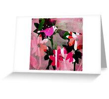 Candy Stripes and loads of pink Greeting Card