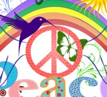 Peace - Colorful Mash-up Sticker