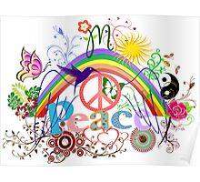 Peace - Colorful Mash-up Poster