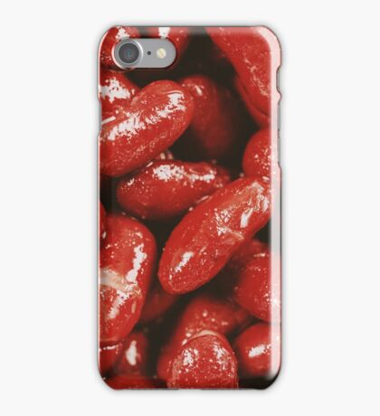 Pile Of Canned Red Kidney Beans iPhone Case/Skin