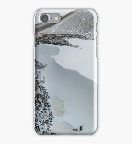 Snow Drift in the Brecon Beacons iPhone Case/Skin