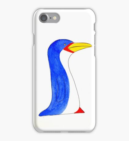Cool blue penguin iPhone Case/Skin
