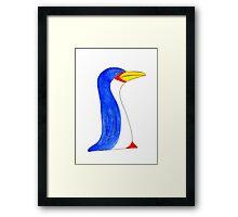 Cool blue penguin Framed Print