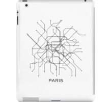 Paris Subway Map,Black & White Lines,Vintage Map Retro,Print Paris,Metro Map Poster,PARIS MAP,Printable,Metro Map,SUBWAY Paris,Subway Map iPad Case/Skin