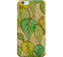 Leaves at the Cafe iPhone Case/Skin