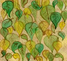 Leaves at the Cafe by Amy-Elyse Neer