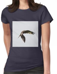 Red Kite in flight Womens Fitted T-Shirt