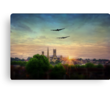 Lancaster Flyby Lincoln Cathedral Canvas Print