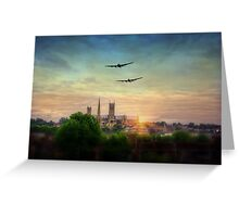 Lancaster Flyby Lincoln Cathedral Greeting Card