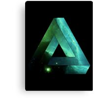 Abstract Geometry: Penrose Nebula (Ethereal Blue/Green) Canvas Print