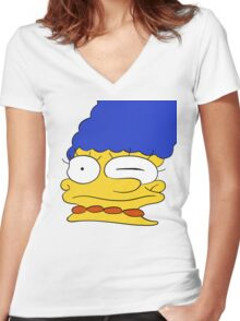 Marge Women's Fitted V-Neck T-Shirt