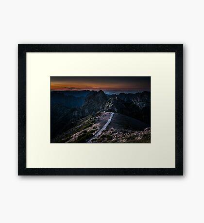 Pico Do Arieiro, Madeira, Portugal Framed Print