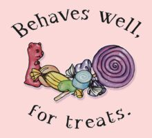 Behaves Well For Treats One Piece - Short Sleeve