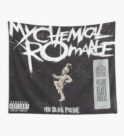 Black The Black Parade Flag Wall Tapestry
