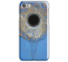 Blue rusty hole iPhone Case/Skin