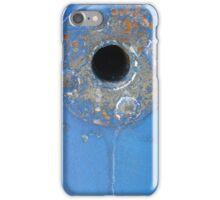 Blue rusty hole 2 iPhone Case/Skin