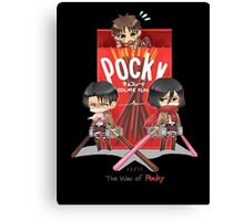 The War Of Pocky Canvas Print