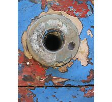 Peeled paint and rust Photographic Print