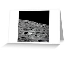 Leonove, a small lunar crater on the far side of the moon. Greeting Card
