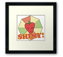 Shiny! Framed Print