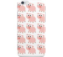 Cute Pink Pig Overload iPhone Case/Skin