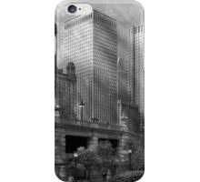 City - Chicago IL - Continuing a Legacy BW iPhone Case/Skin