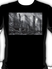 City - Chicago IL - Continuing a Legacy BW T-Shirt