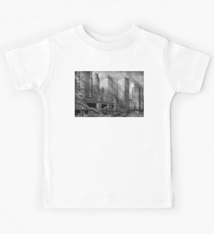 City - Chicago IL - Continuing a Legacy BW Kids Tee