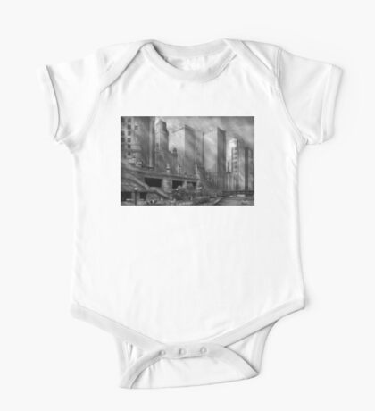 City - Chicago IL - Continuing a Legacy BW One Piece - Short Sleeve