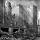 City - Chicago IL - Continuing a Legacy BW by Mike  Savad