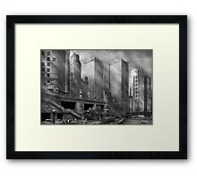 City - Chicago IL - Continuing a Legacy BW Framed Print