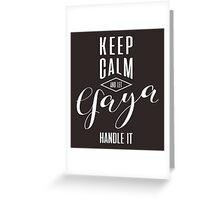 Keep Calm Yaya T-shirt Greeting Card