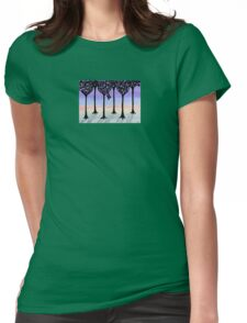 Winter Stroll Womens Fitted T-Shirt