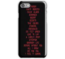 Starboy Tracklist iPhone Case/Skin