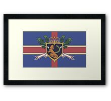 The Holy Empire of Britannia Flag Framed Print