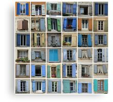 Windows of the Provence by ProvenceProvence Canvas Print