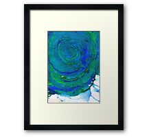 Water Colour Waves and Motion Framed Print
