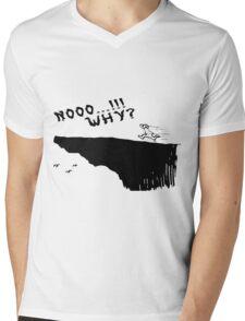 no why Mens V-Neck T-Shirt