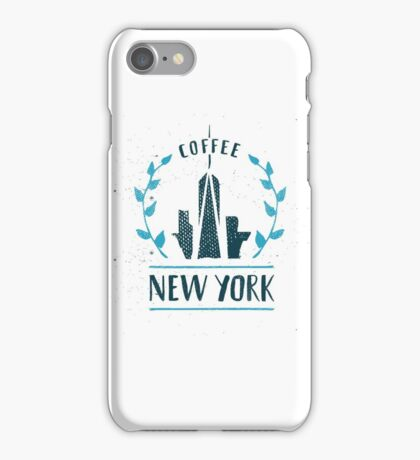 New York Coffee Cityscape iPhone Case/Skin