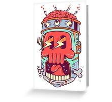 A Colourful Screaming Skull Greeting Card